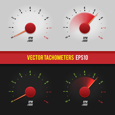 Vector tachometers glossy style modern illustration  Vector