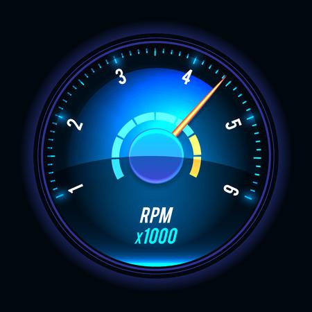 tachometer: Vector tachometer