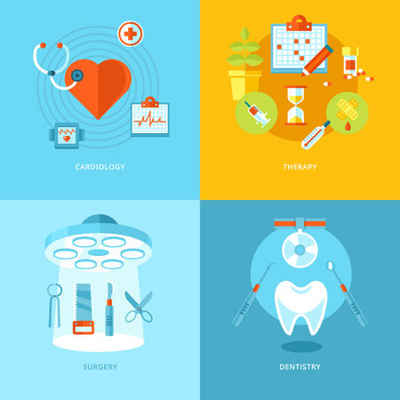 health icons: Vector medical and health icons set for web design and mobile apps