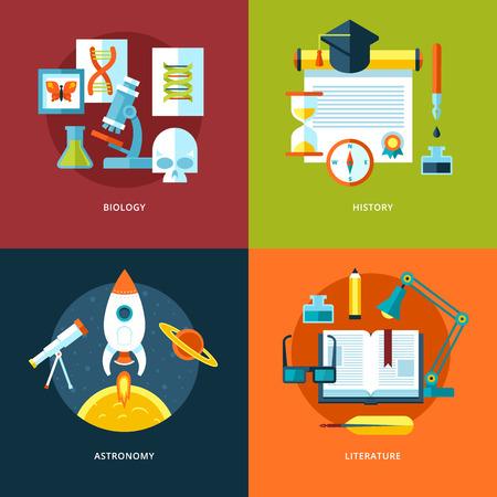 education icons set for web design, mobile apps. Vettoriali