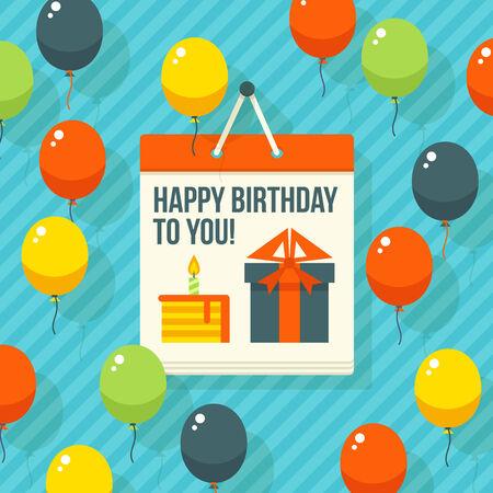 rewarding: Birthday, anniversary, jubilee party invitation card, postcard design. Vector illustration. Illustration