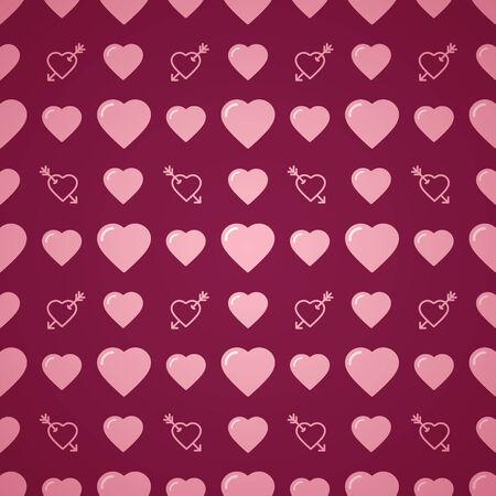 amorousness: Lovely heart romantic pattern. Seamless vector background. Illustration