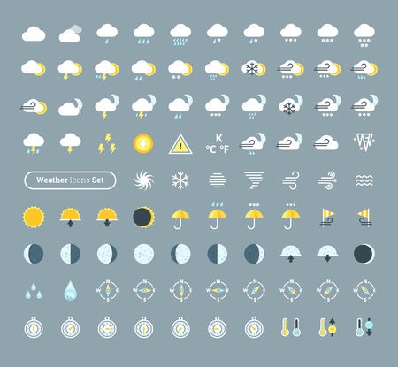 sleet: Huge pack of weather icons. Weather forecast design elements for mobile apps and widgets.