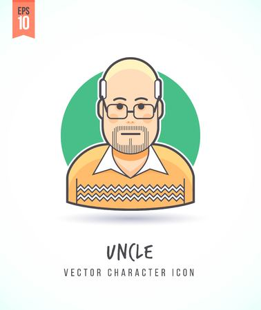 Man in sweater illustration People lifestyle and occupation. Colorful and stylish flat vector character icon Illustration