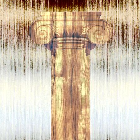 metall: Greek column against a metall background.