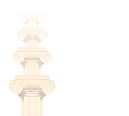 Historical columns, isolated on white. photo