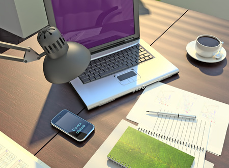 The office. Modern business workspace. Standard-Bild