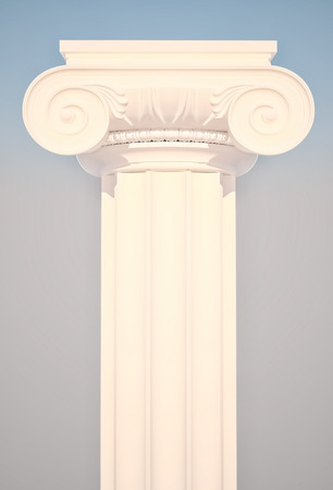 ionic: Greek Ionic Column. Stock Photo