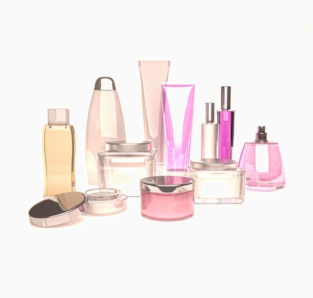 Jars of moisturizing face cream. Standard-Bild