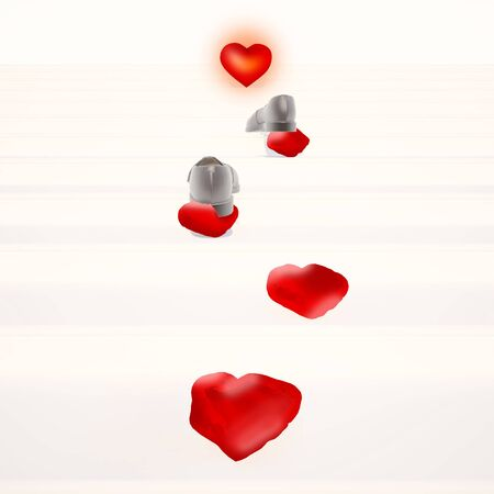 Concept forward, to new love. Man Stock Photo
