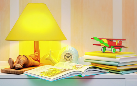 glowworm: Fairy tale for the night. Stock Photo