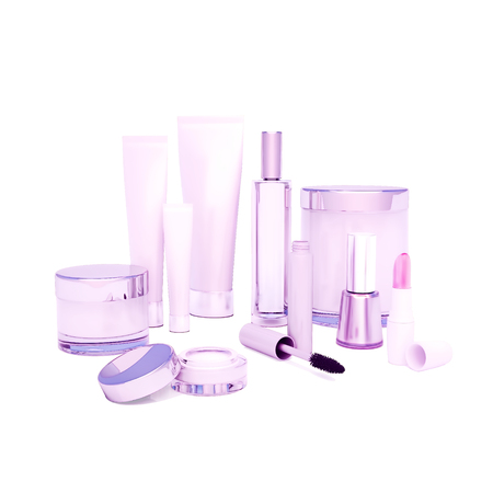 round eyes: A face cream, skin cream round eyes, serum and lip balm, lipstick, mascara, nail varnish. Care of skin.