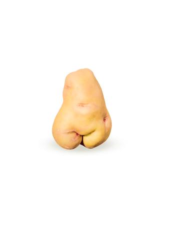 silhouette femme: Pommes de terre d'une forme inhabituelle, pommes de terre sous la forme d'une figure f�minine, isolat.