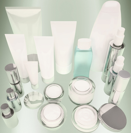 Daily, beauty care cosmetic. 版權商用圖片