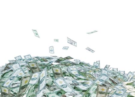 dollar bills: Heap of Dollar Bills isolated on white background.