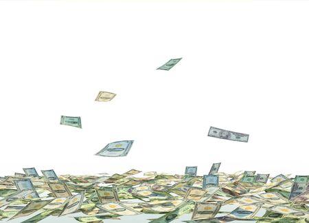 dollar bills: Falling Dollar Bills