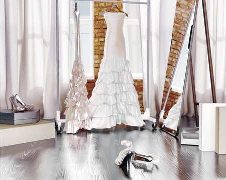 Tomorrow wedding! Dress of the bride.