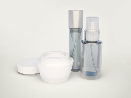 basic care: Daily, beauty care cosmetic. Face cream, serum, balm. Skin care.