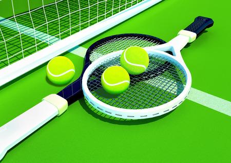 Tennis; racket; tennis grass court