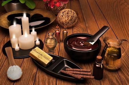 mimos: Spa y con aceite de esencia, jab�n natural, toalla suave. Cuidado del cuerpo. Foto de archivo