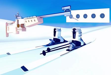 composure: Sport background  with biathlon. Stock Photo