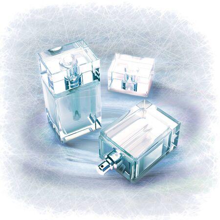 cremas faciales: male perfume Foto de archivo