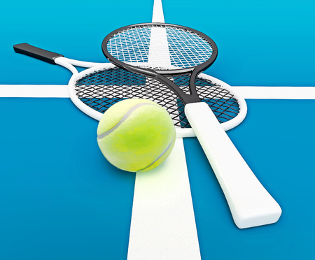 Tennis; rackets; sphere; court; game.