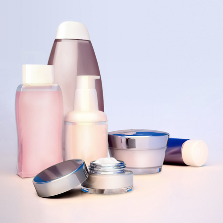 Set of cosmetic cream. Daily, beauty care cosmetic.