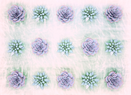 Abstract horizontal light blue floral background. The plants in the background of the water.