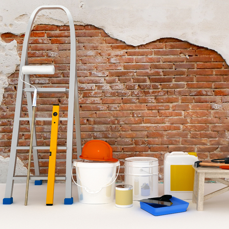 The apartment is under construction and renovation. Standard-Bild