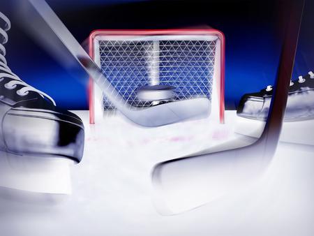 Ice hockey. 版權商用圖片