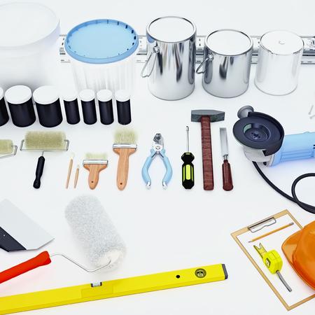 Tool for repairing an apartment.