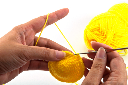 women's hands: Womens hands doing crochet work