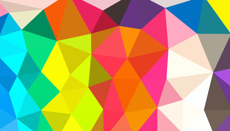 multi color: Multi color abstract in low poly style illustration graphic background Stock Photo