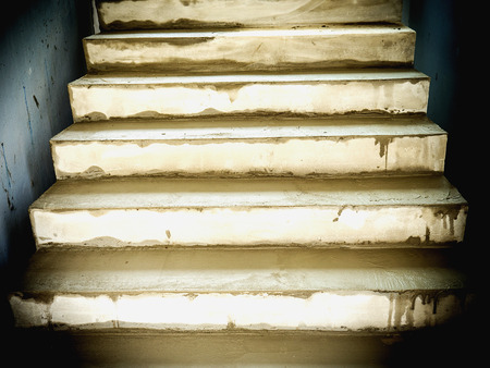 housebuilding: Under construction reinforce concrete stair