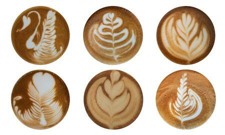 Cara de decoración de café Latte art