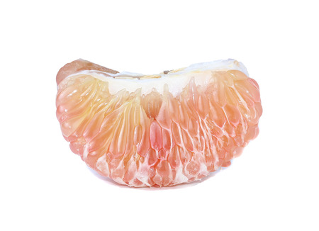 pummelo: A single pummelo fruit isolated on a white background.