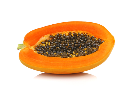 cutaneous: papaya in white background