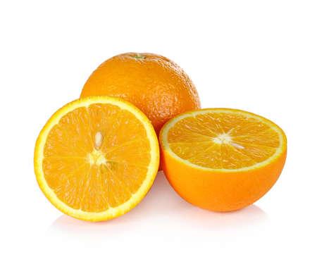 cantle: orange isolated on white background Stock Photo