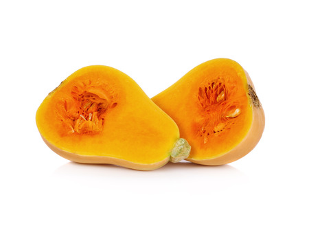 butternut: butternut squash on a white background