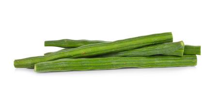 moringa: Peeled moringa on white background Stock Photo