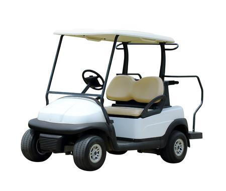 Golf cart golfcart isolato su sfondo bianco