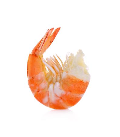 Shrimps. Prawns isolated on a White Background