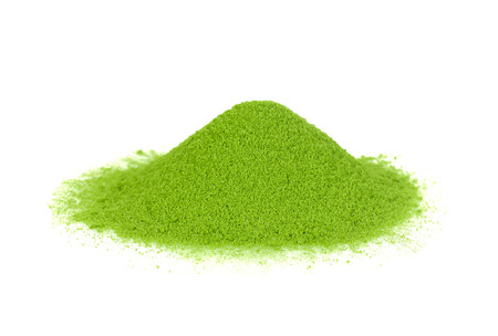 Green tea matcha powder Stock Photo