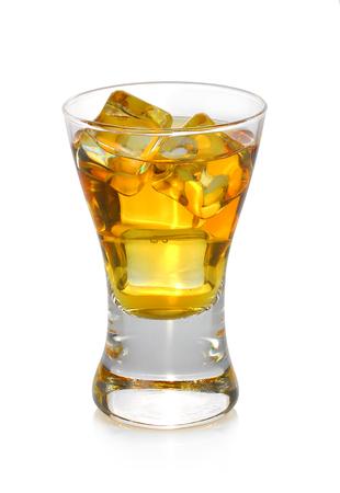Glass of whiskey isolated on white background Stock Photo