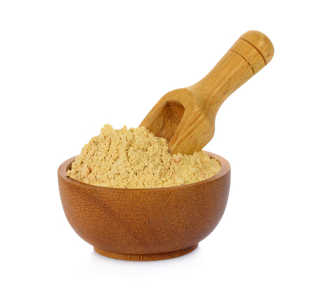 Thanaka powder  isolate on white background Foto de archivo