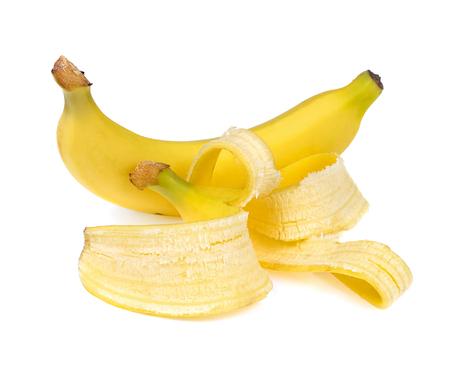 banana peeled isolate on white background
