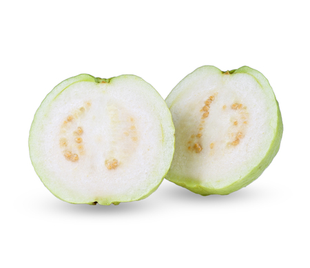 Guava fruit slice isolated on white background. 写真素材