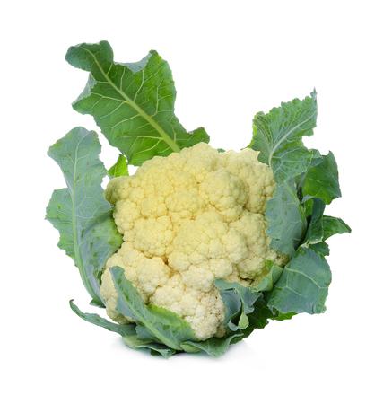 Cauliflower isolated on white background 写真素材 - 105601878