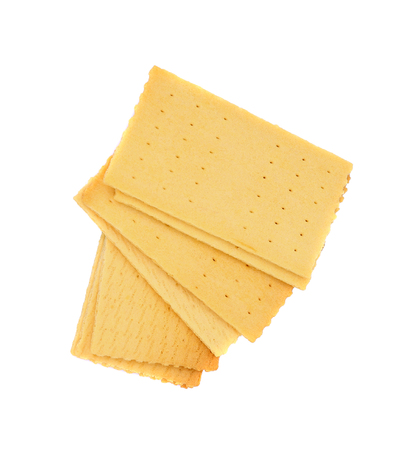 crackers isolated on white background 写真素材